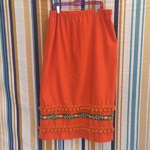 OOAK Hand Made 60s 70s True Vintage Pom Pom Skirt